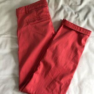 Banana Republic Pants & Jumpsuits - Banana Republic Chino 💫 coral color⭐️ size 4